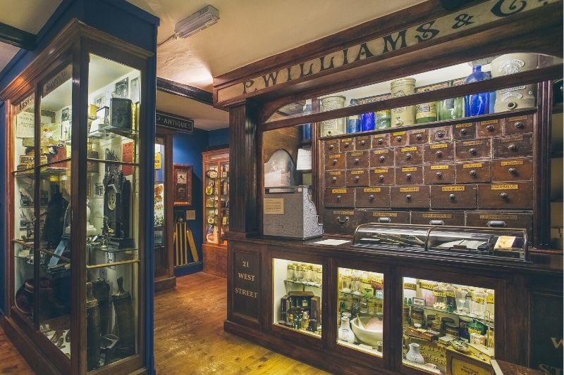 A Victorian era shop front in the Shopping Gallery