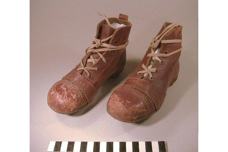 A pair of leather football boots