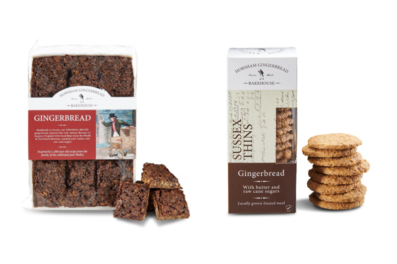 Horsham Gingerbread Bakehouse gingerbread and Sussex thins