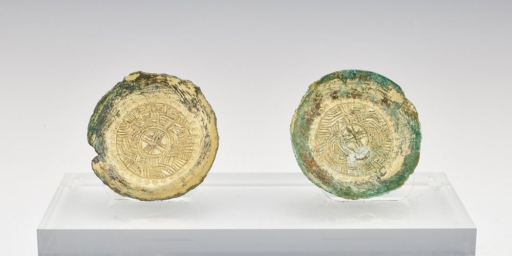A pair of ancient coins