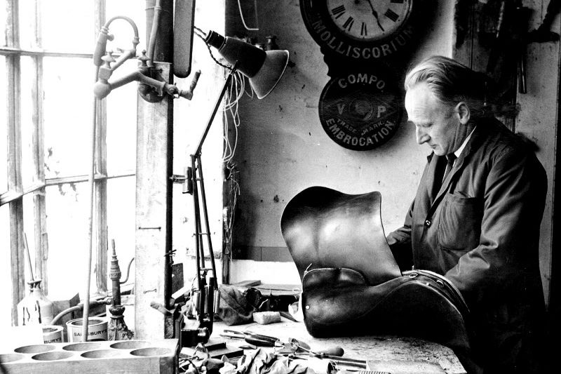 Mr Albery in his lorinery shop