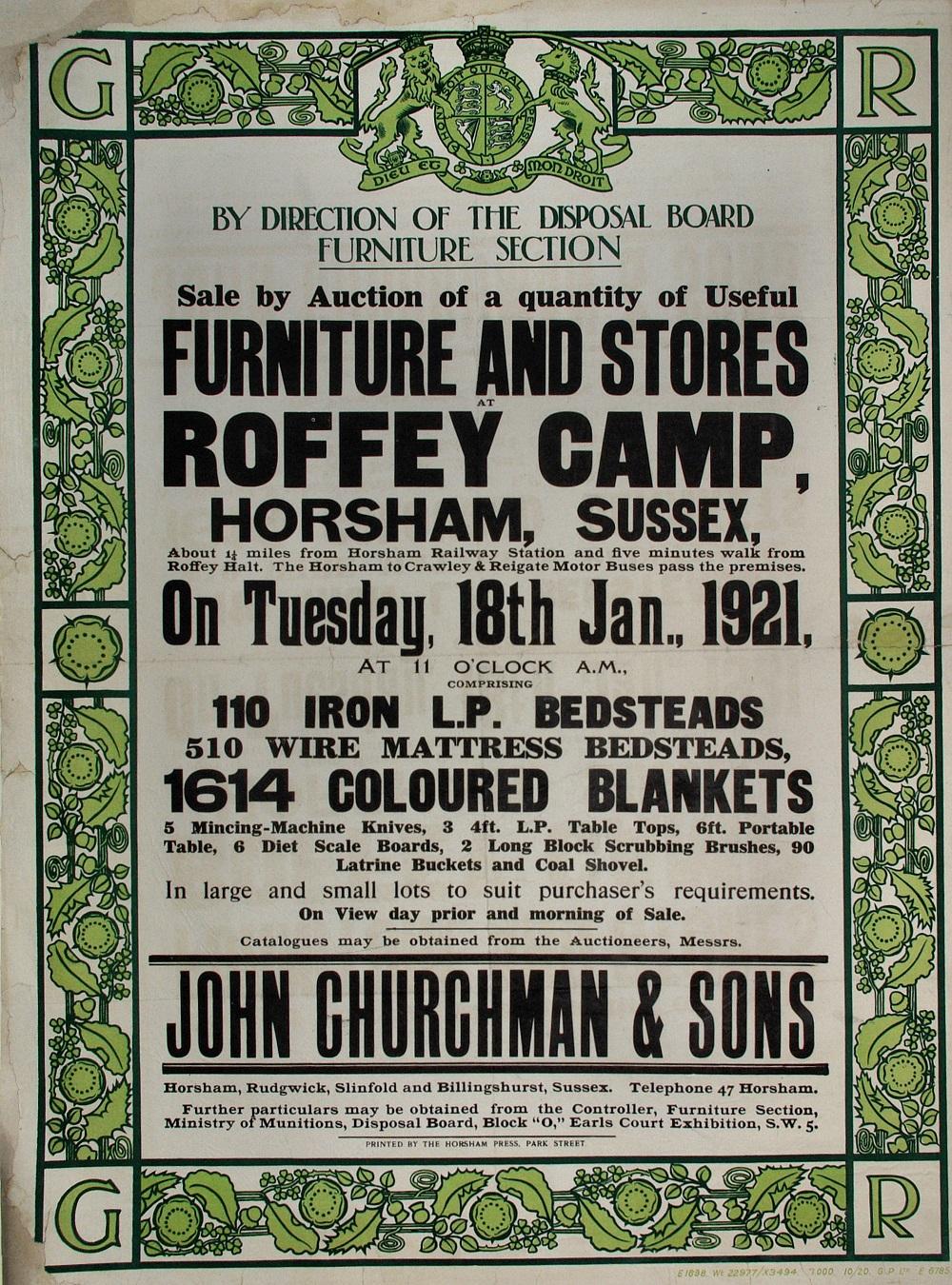 Roffey furniture sale