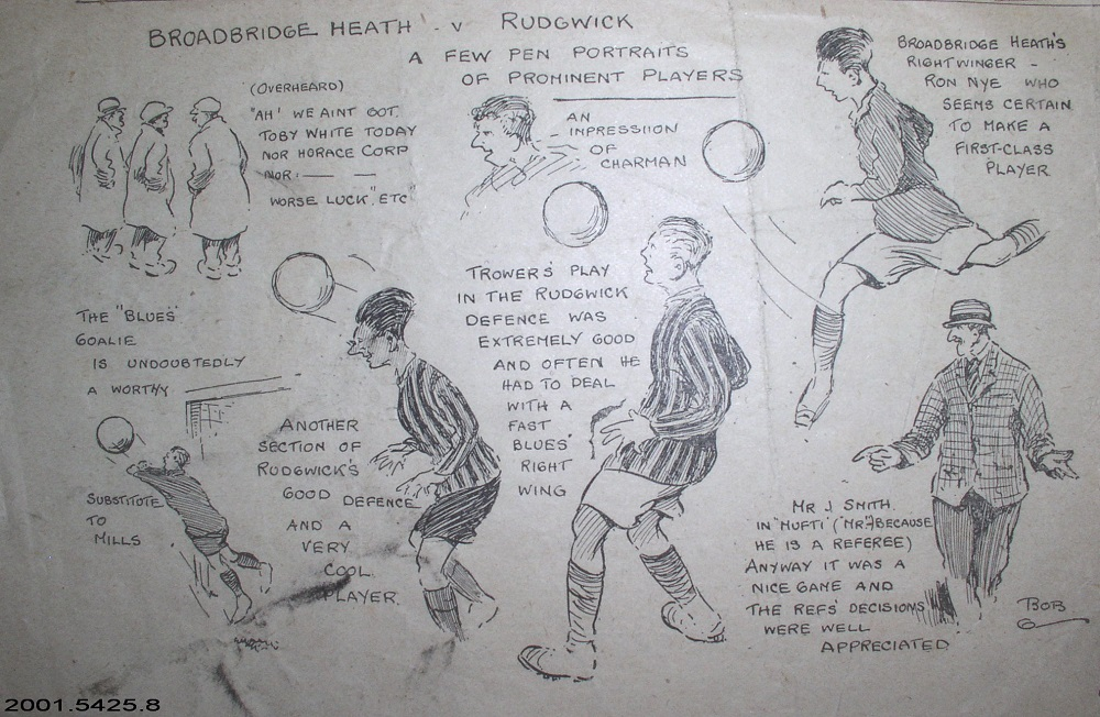 Pen portraits of 'Broadbridge Heath v Rudgwick'