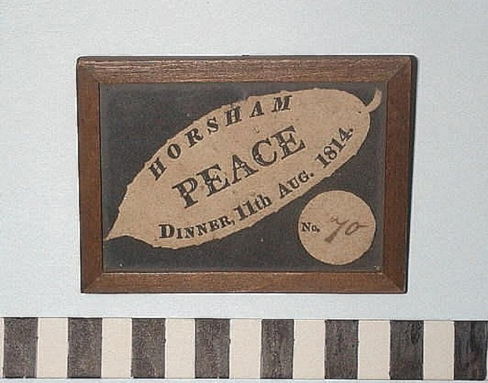 Peace ticket 1814