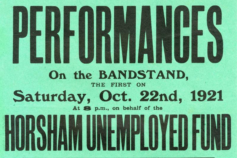poster unemployment horsham