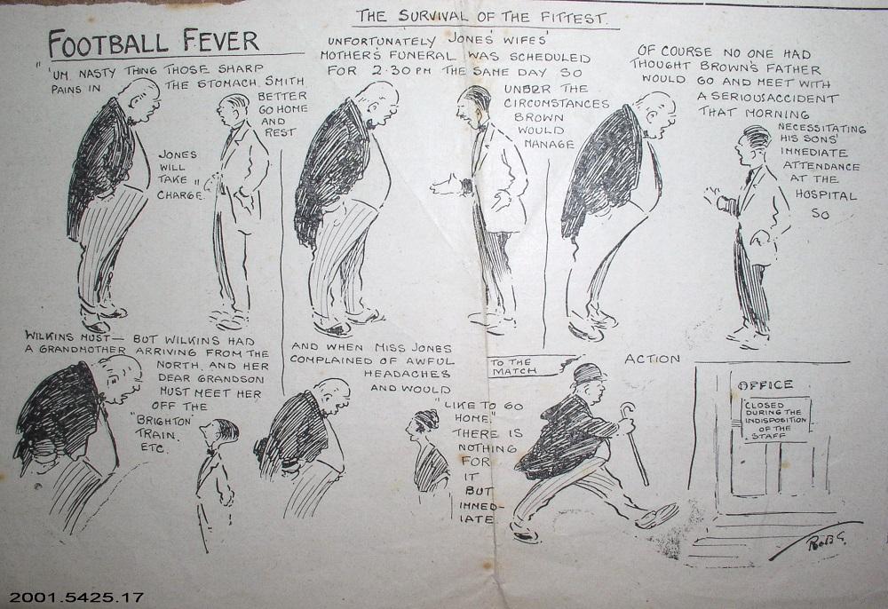 A carton strip entitled Football Fever