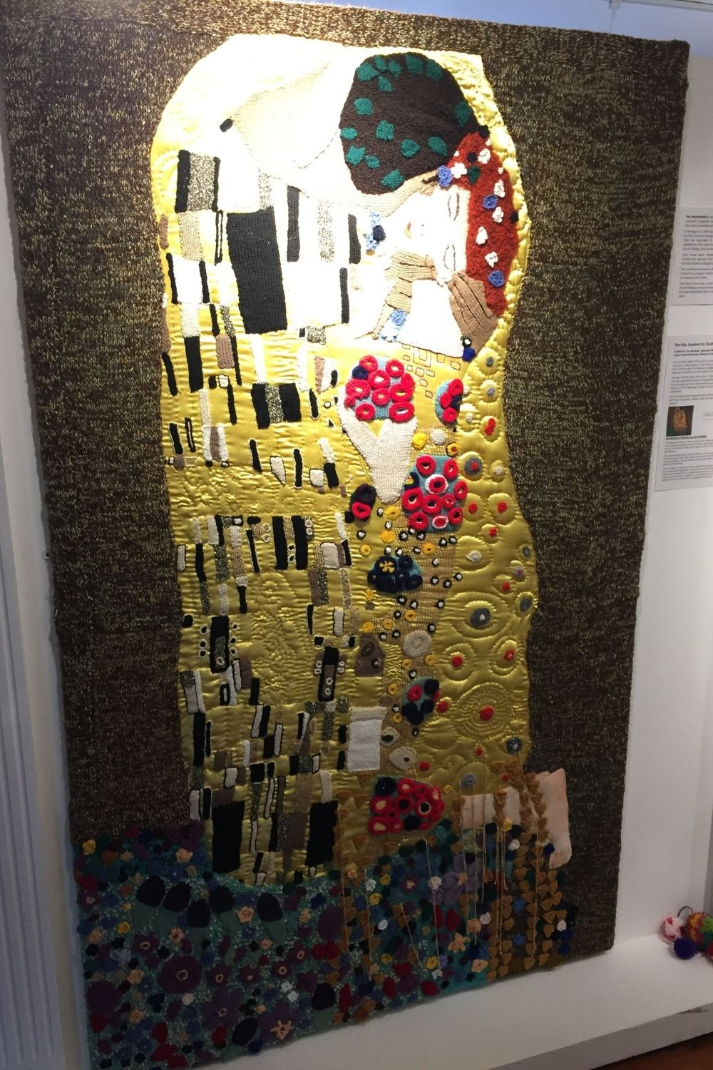 Hand-crafted version of Klimt's