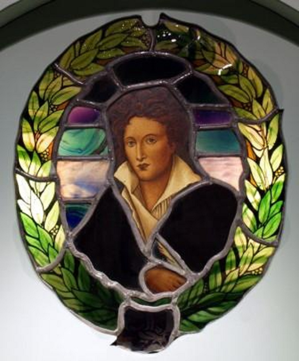 Shelley window at Horsham Museum