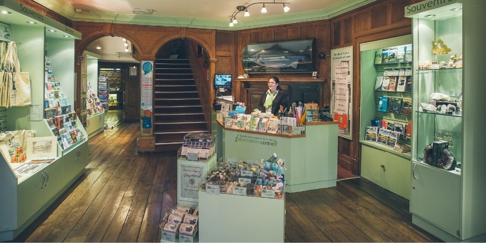 The museum shop and visitor information point
