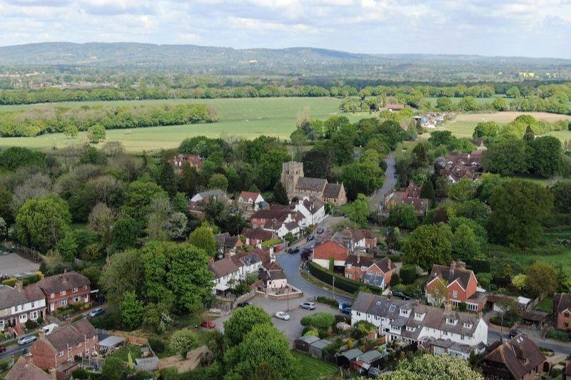 An overhead view of the village of Rusper