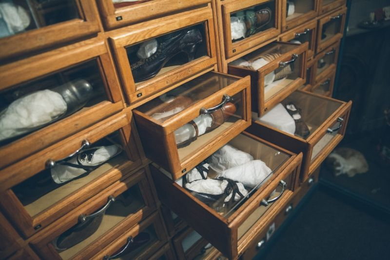 Costume collection drawers