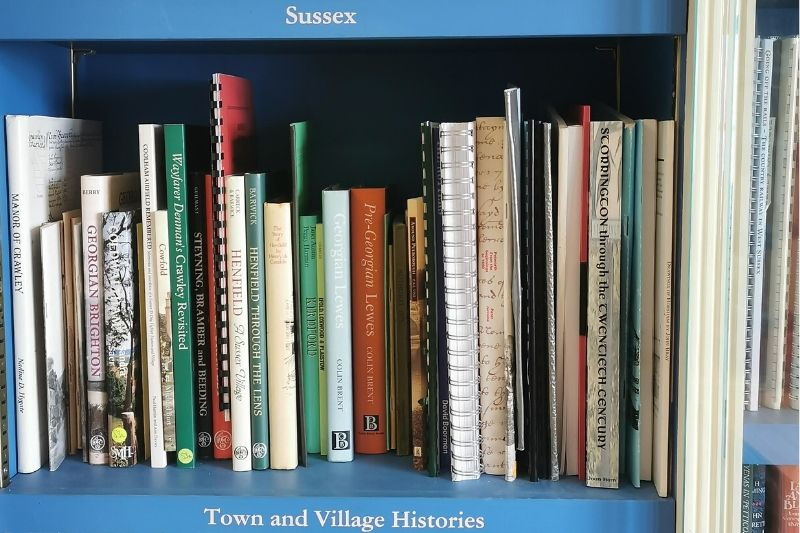 Town and village histories and Sussex shelves