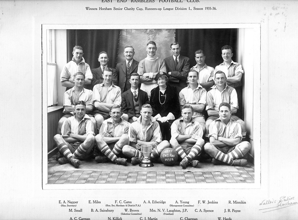 East End Ramblers Football Club, who won Horsham Senior Charity Cup 1935-6