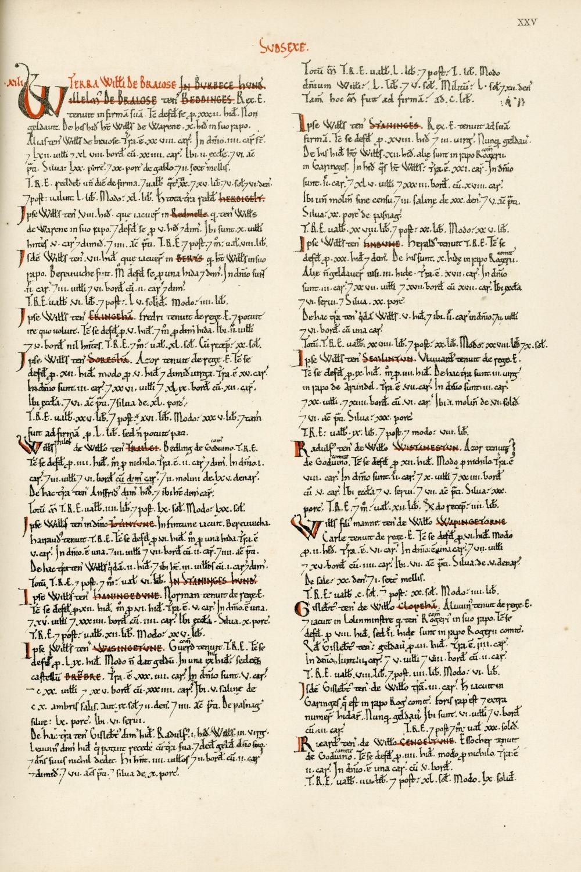 Copy of medieval charter mentioning Horsham