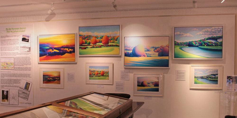 Colourful works by local artist Sarah Duffield